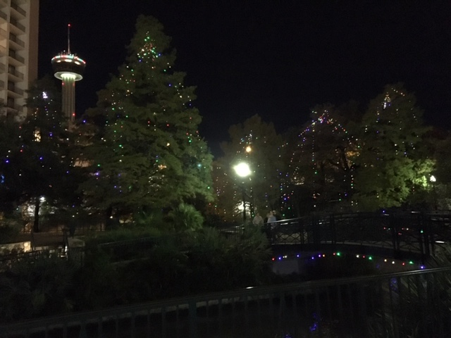 The riverwalk in one of the most popular places to see Christmas lights in San Antonio.