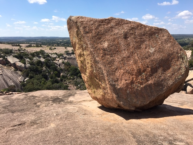 Odd rock formations can be found around the top of Enchanted Rock.