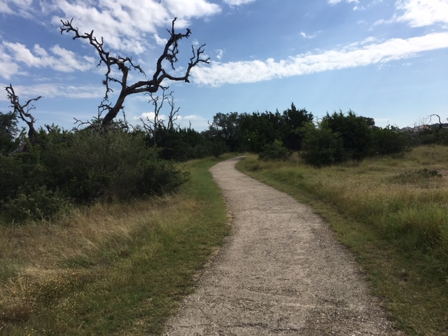 The loop trail in Stone Oak, while hiking in San Antonio.