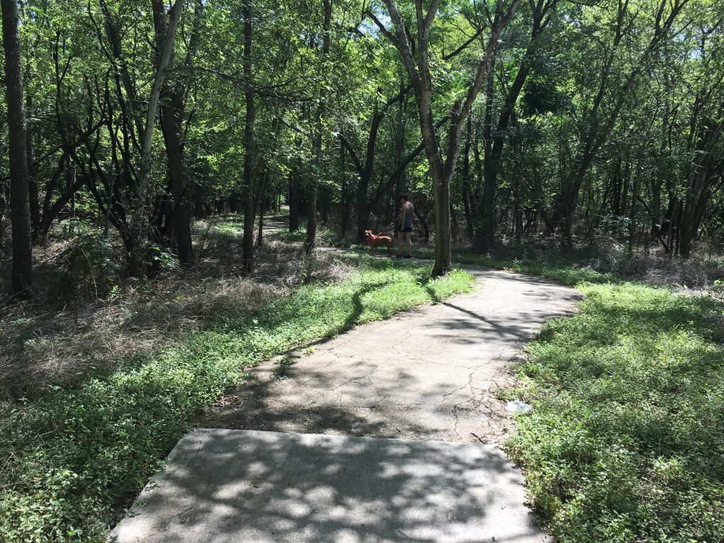The half mile loop trail has some shade.