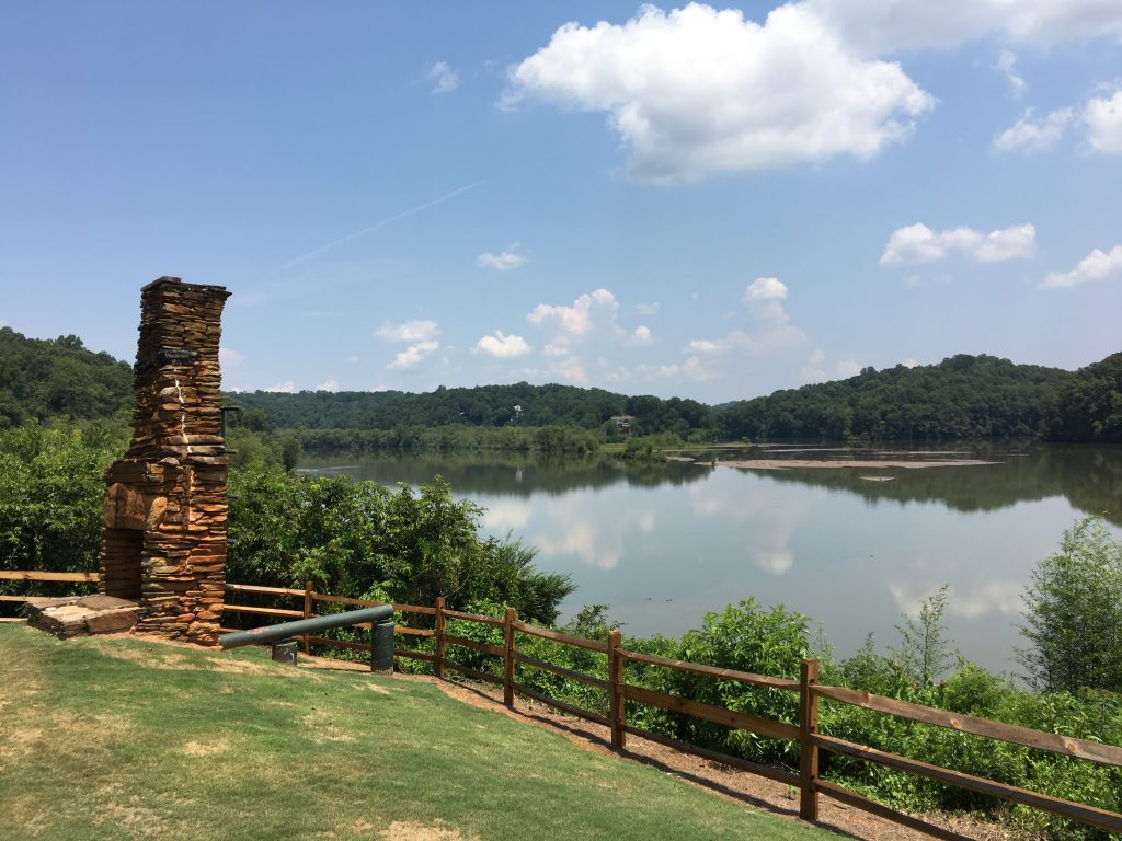 The view of Chattahoochee River from Morgan Falls Overlook Park.