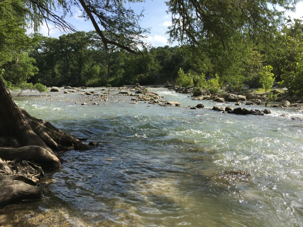 The Guadalupe River is a great place to hike outside of San Antonio.