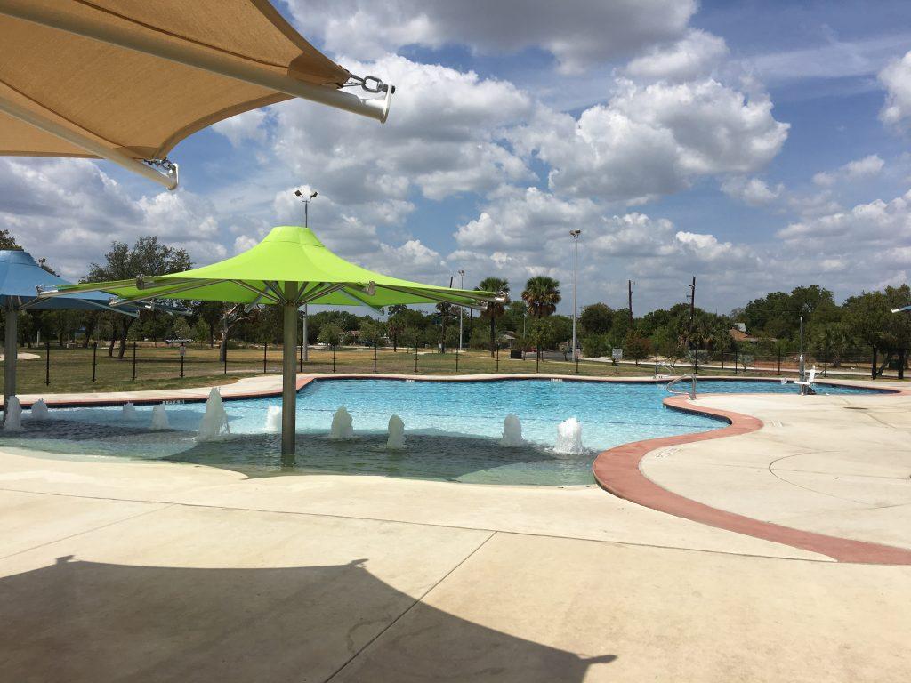 The community pool at Elmendorf Lake Park.