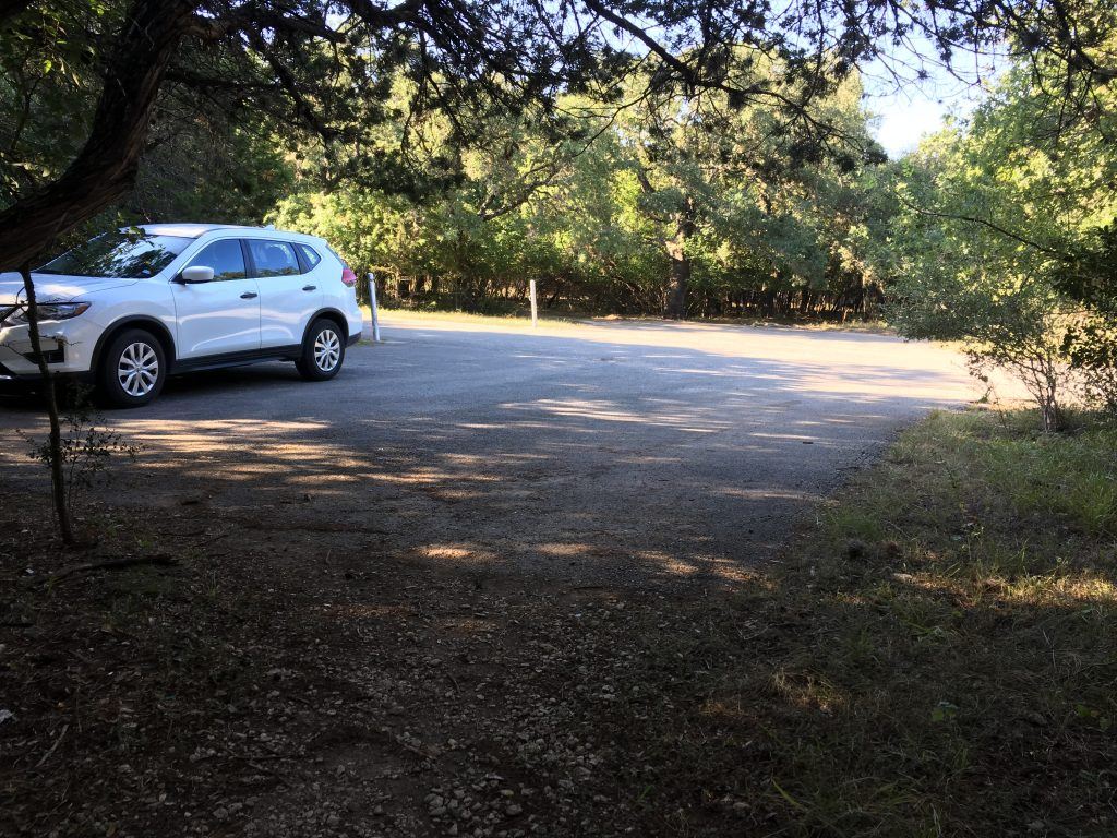 You may find a small parking area near an access trail at OP Schnabel Park.