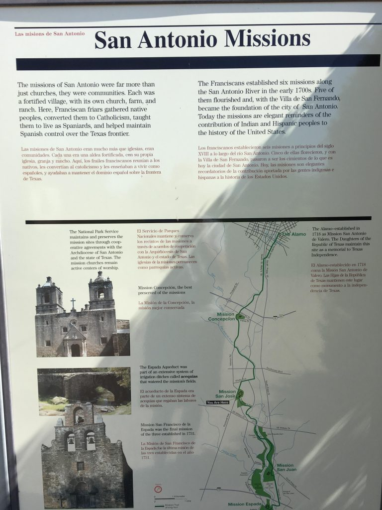 You will find historical markers and descriptions inside the missions in San Antonio.