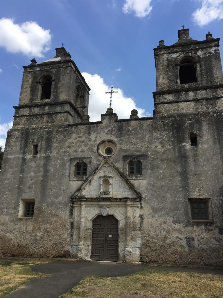 The chapel at Mission Concepcion is unwalled.