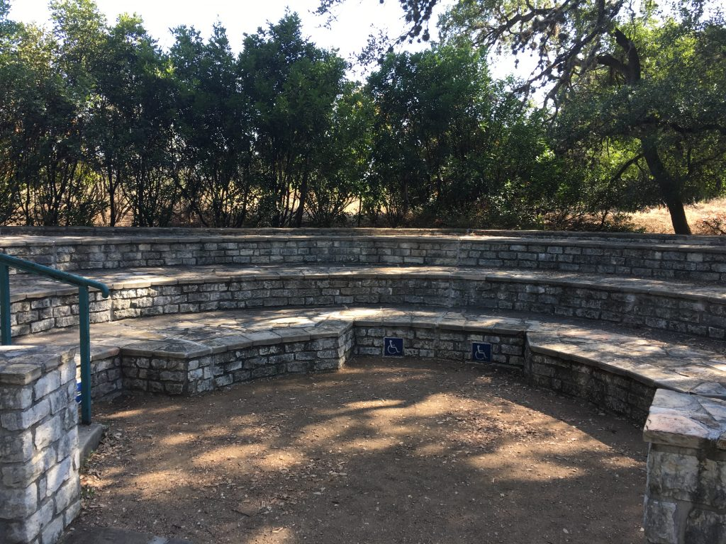 The outdoor classroom inside the greenway loop at Walker Ranch Park.