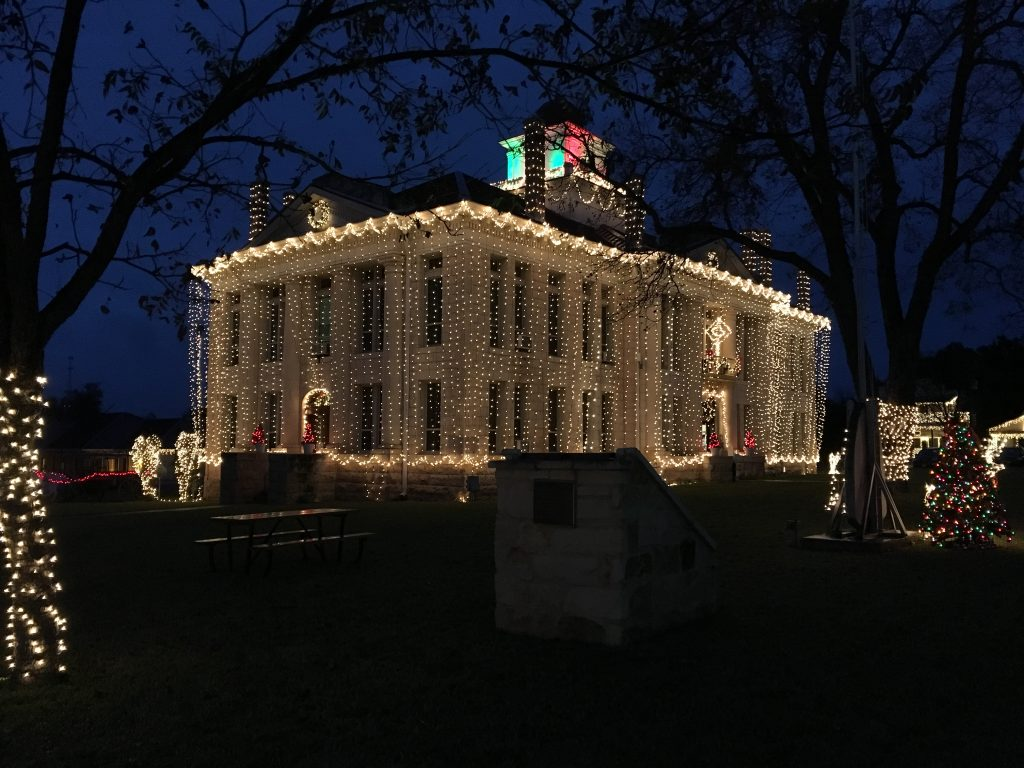 The lights in Johnson City begin with the courthouse.
