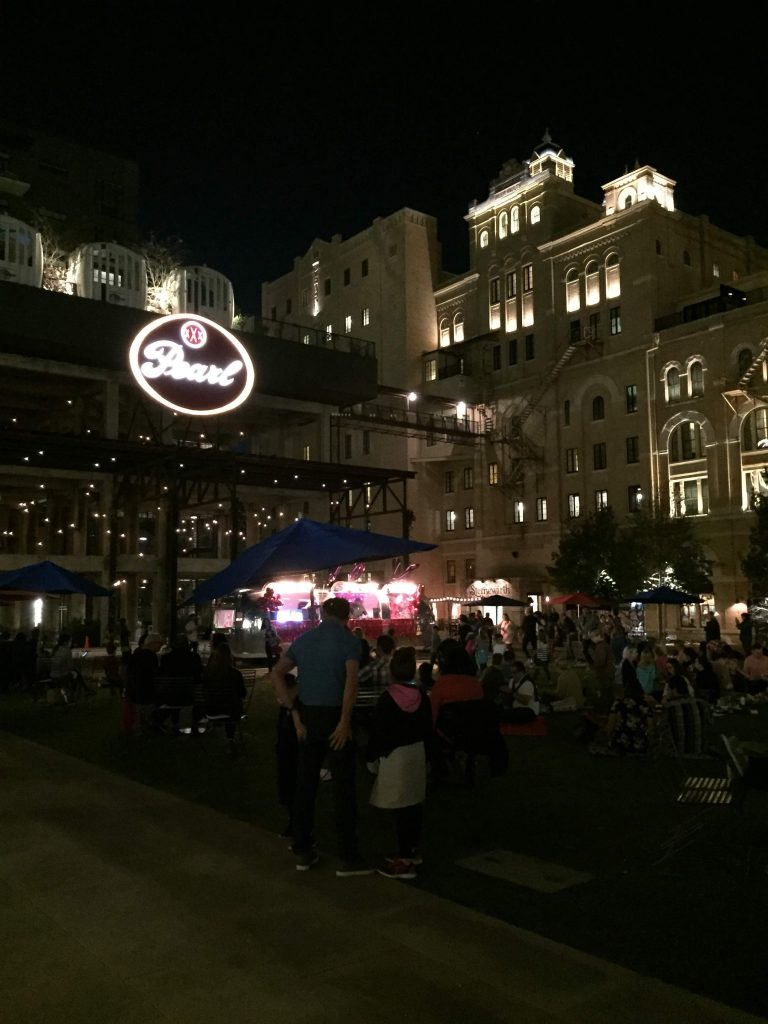 Head to the Pearl to see Christmas lights in San Antonio.