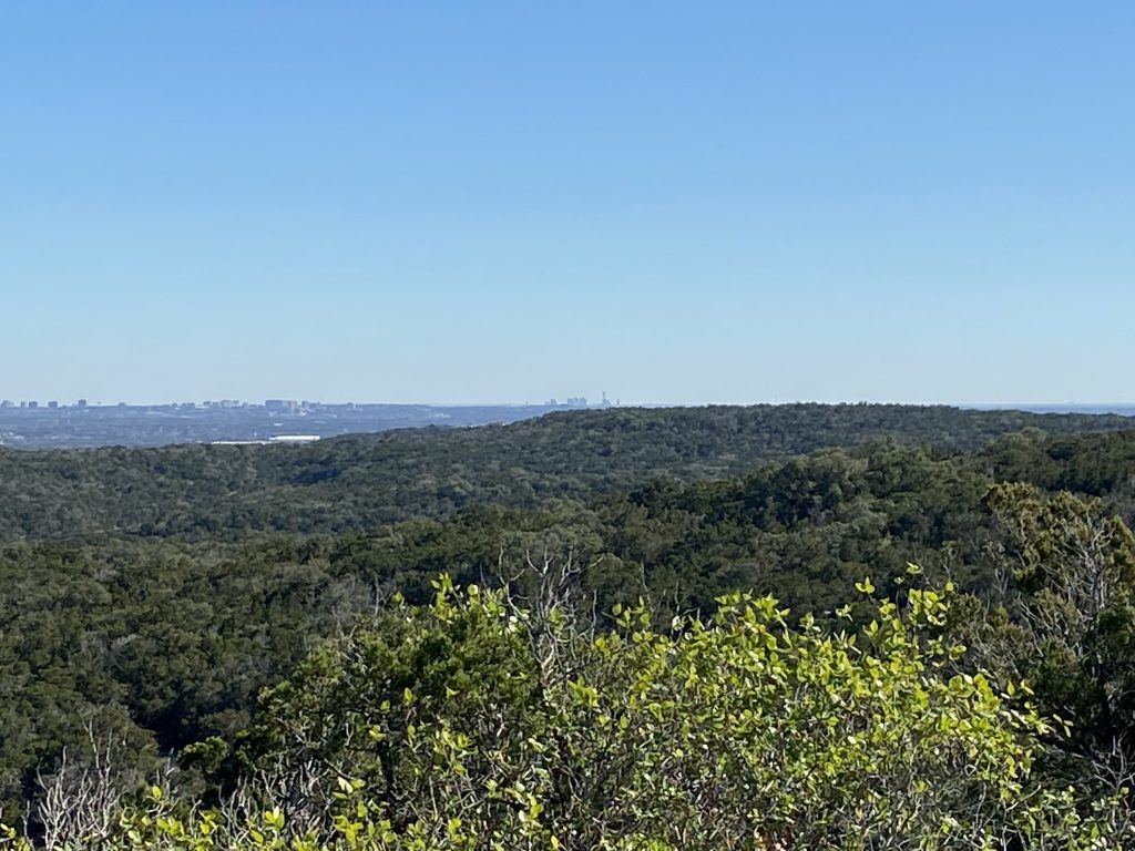 The Black Hill Loop is one of the best trails in San Antonio, Texas, and provides scenic views.