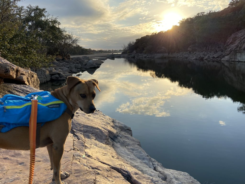 We looked out over Inks Lake at the sunset.