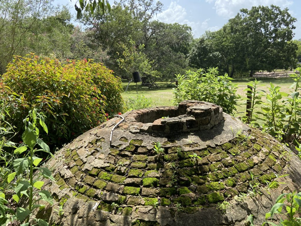 The old cistern can be found behind the Nature Center at Brazos Bend.