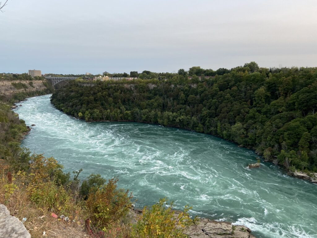 The rapids for a pool at Whirlpool State Park