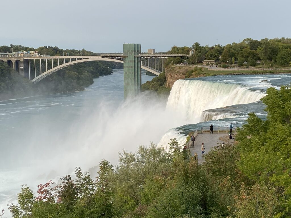 The American Falls can be seen from Goat Island