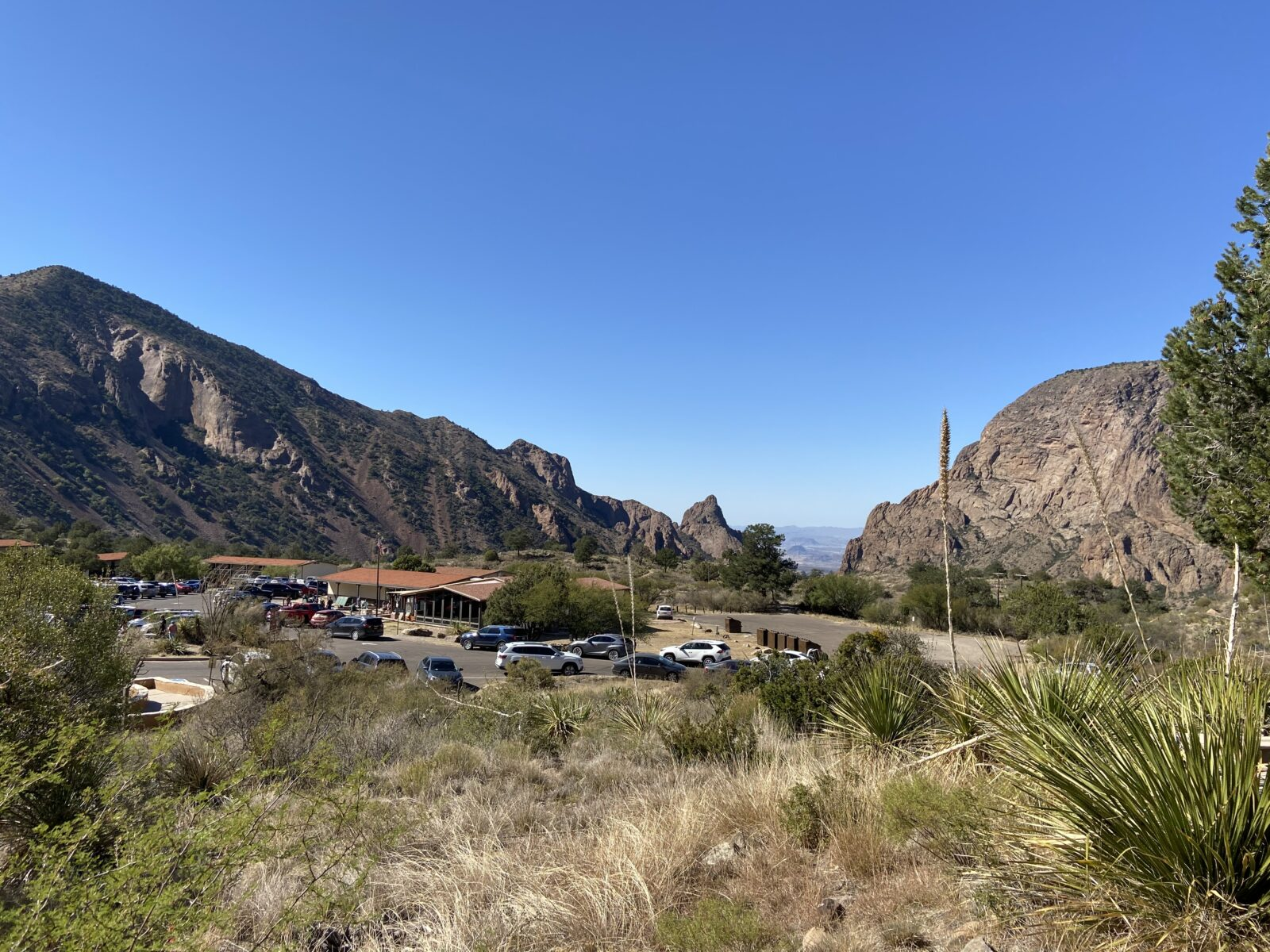 The Chisos Mountain Lodge at Big Bend National Park.