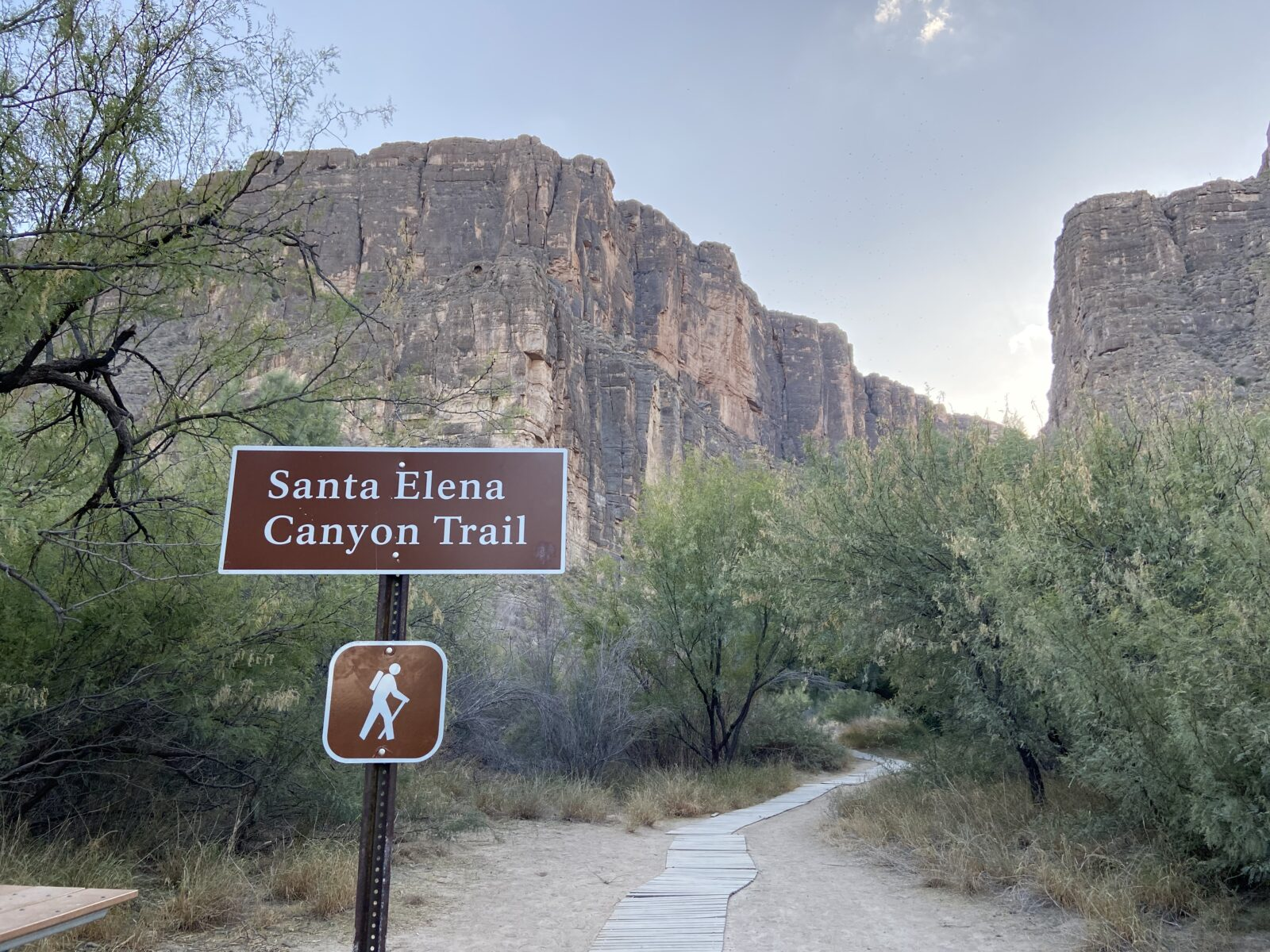 The Santa Elena Canyon Trail is short and will not lead you very far into the canyon because of the river.