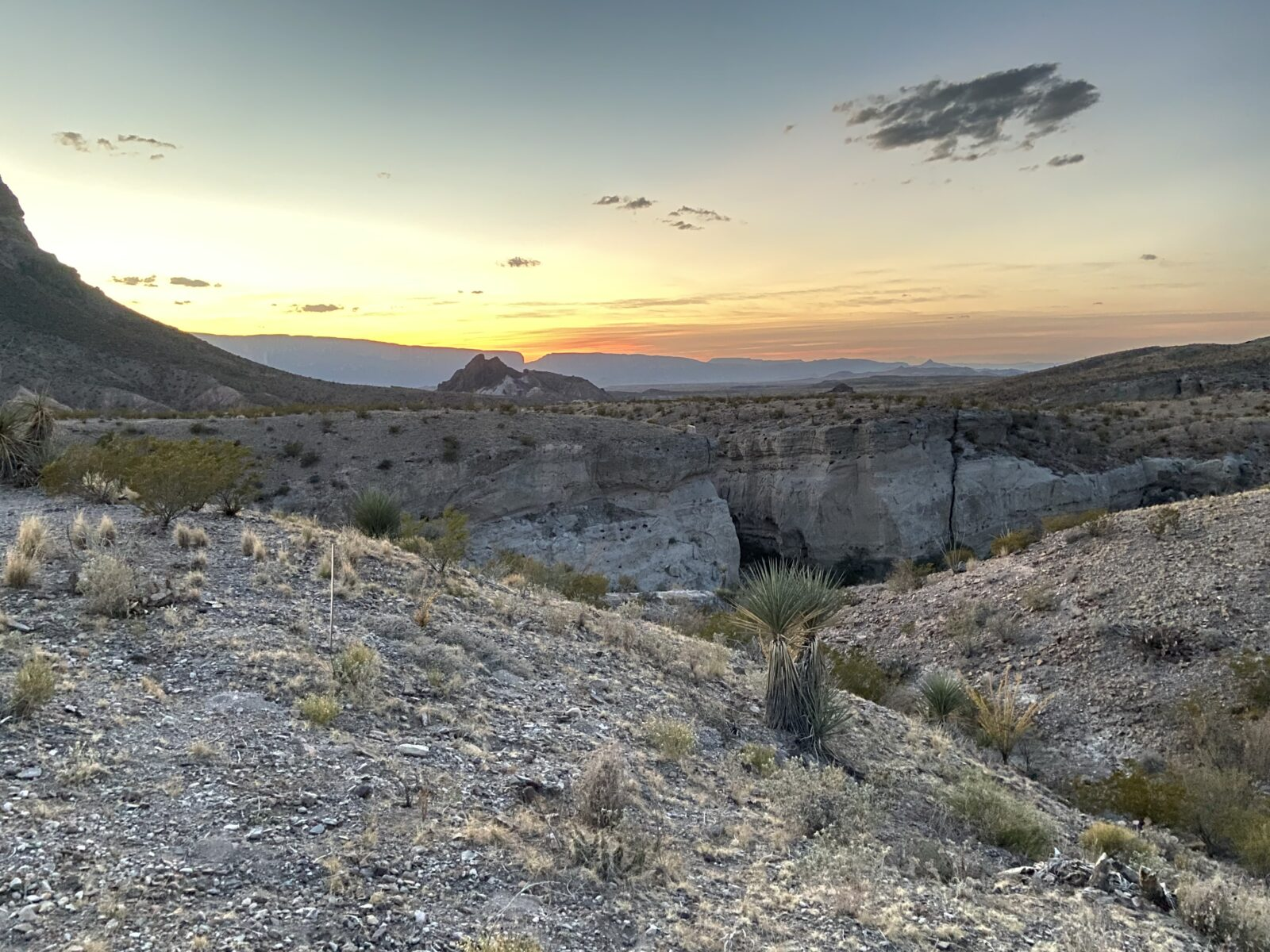 Santa Elena Canyon is a rising wall along the Ross Maxwell Scenic Drive - this shot from Tuff Canyon.